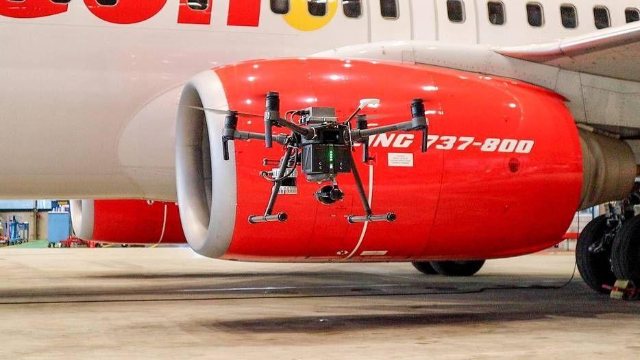 Mainblades vliegtuig inspectie drone