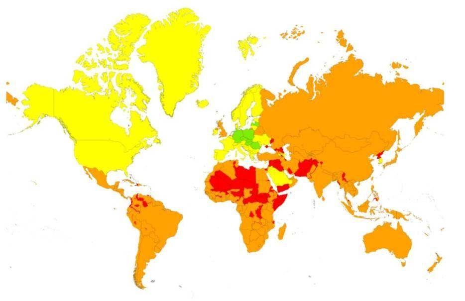 Wereldkaart corona rivm