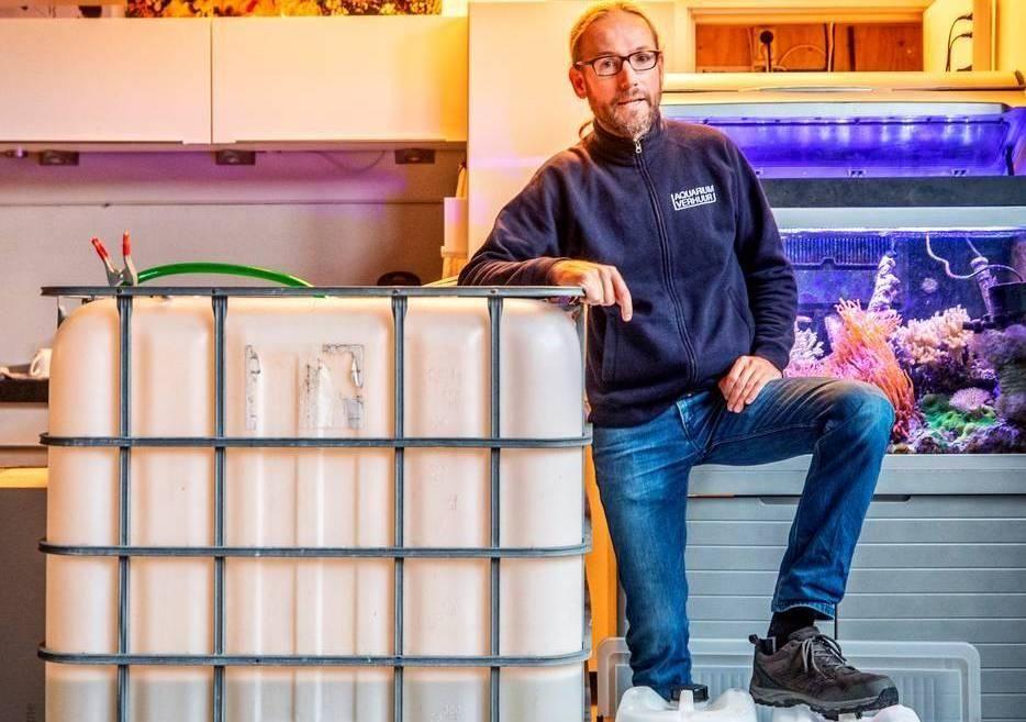 Erik rood siervissen aquarium kantoortuin vis lease