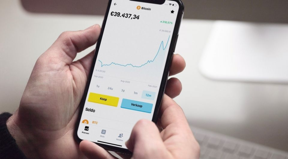 BLOX mobile office BTC koers web