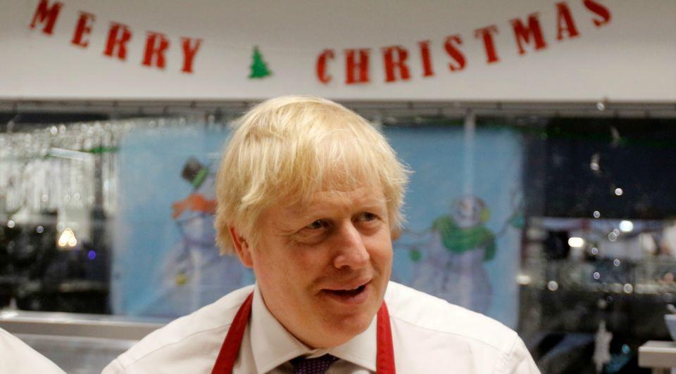 Boris Johnson Merry Christmas