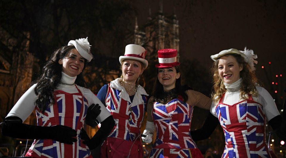 Brexit Day verklededames
