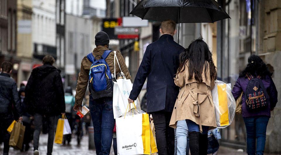 Economie winkelen winkels horeca retail CBS recessie lockdown coronacrisis