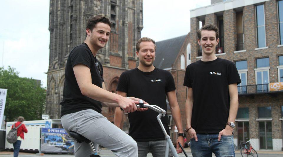 Flitsbel led verlichting groningen fiets innovatie student company