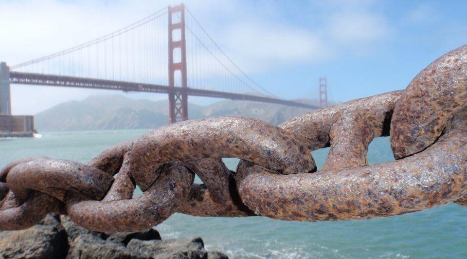 Golden Gate Bridge ketting lockdown stephen leonardi unsplash