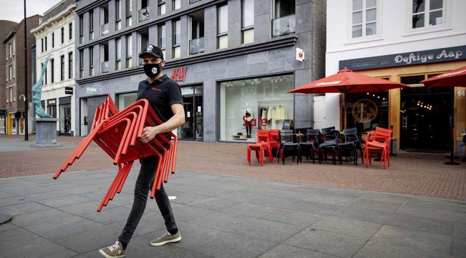 Horeca protestactie terrassen corona maatregelen lockdown Rutte