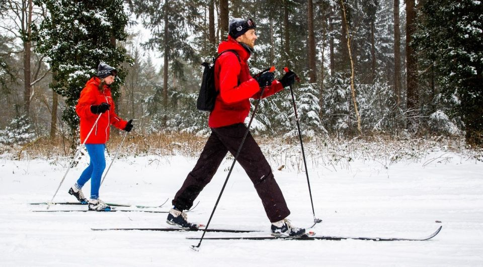 Langlaufen winter sneeuw wintersport langlaufski