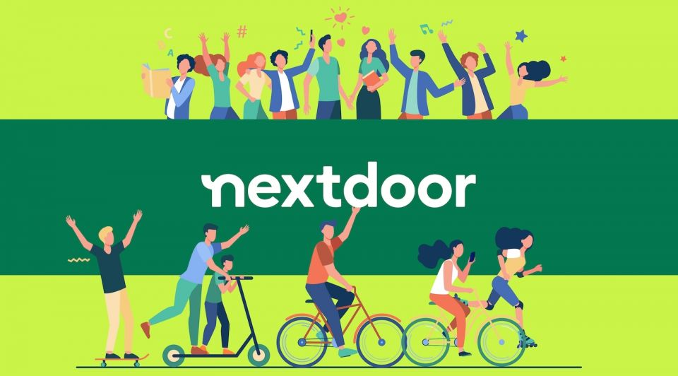 Next door new york beurs groei cartoon