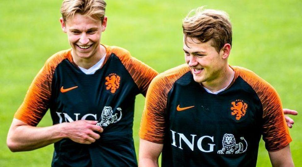 Oranje Frenkie de Jong Ligt EK voetbal