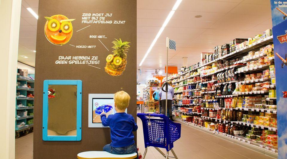 Play corner kinderen supermarket speelhoek Albert Heijn omzet