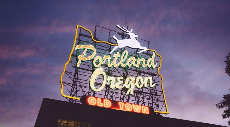 Portland by night zack spear unsplash
