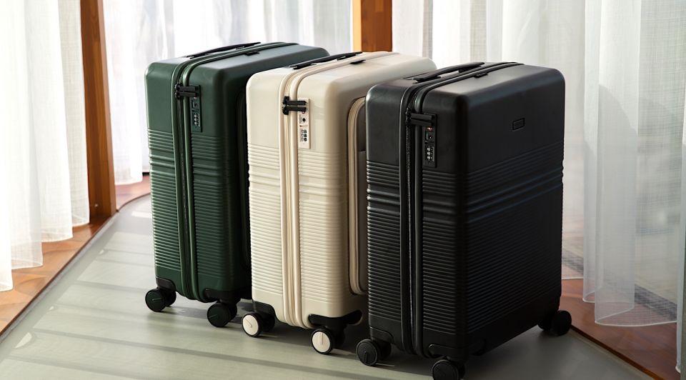 Recycle koffers petflessen NORTVI duurzaam reizen