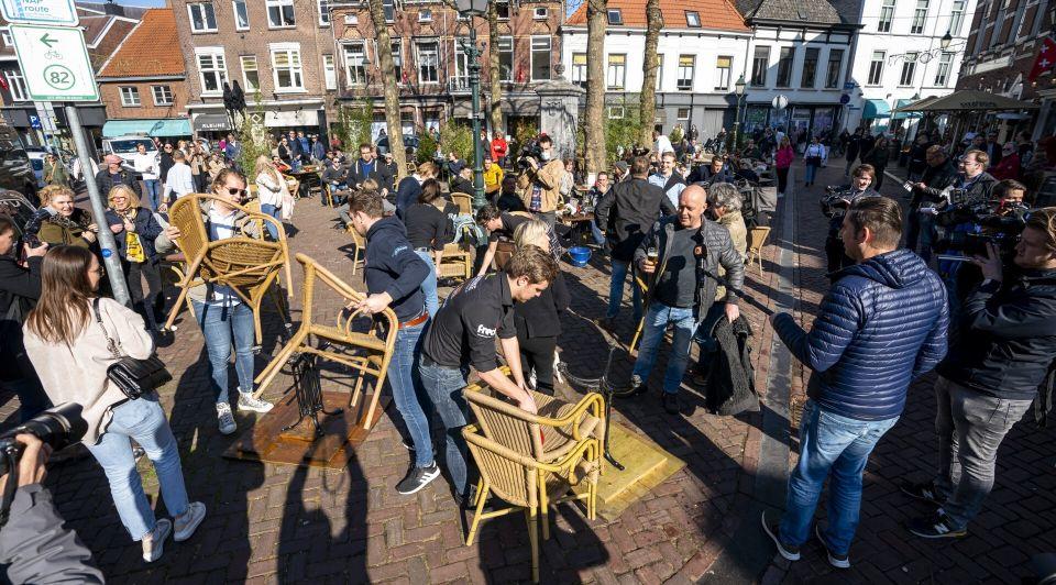 Terrassen open Breda corona maatregelen lockdown horeca