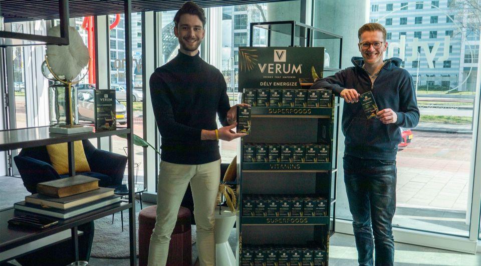 Verum ondernemers koffie drank startup