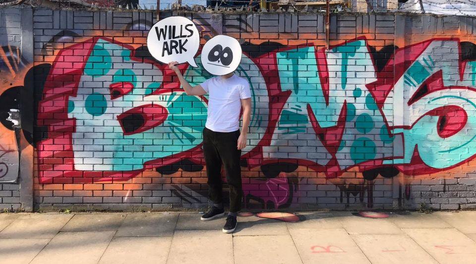 Willsark bier Londen muur