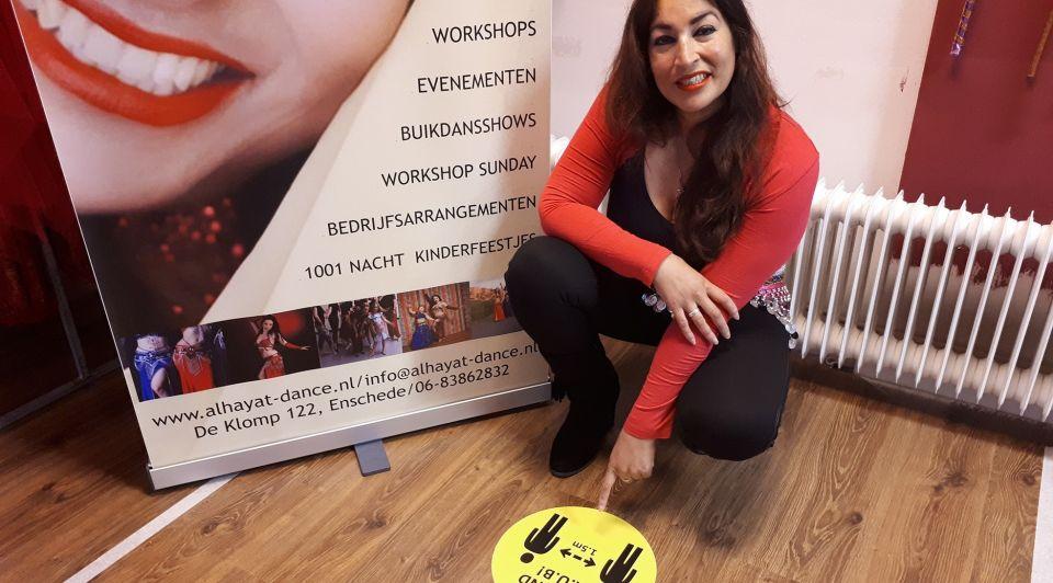 Al hayat ondernemer dans studio corona crisis