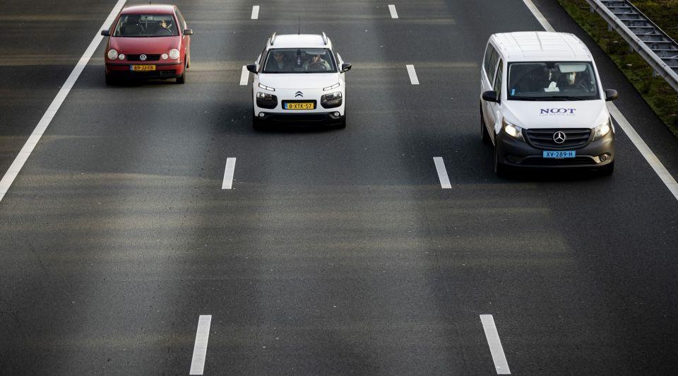 Auto snelweg werkverkeer
