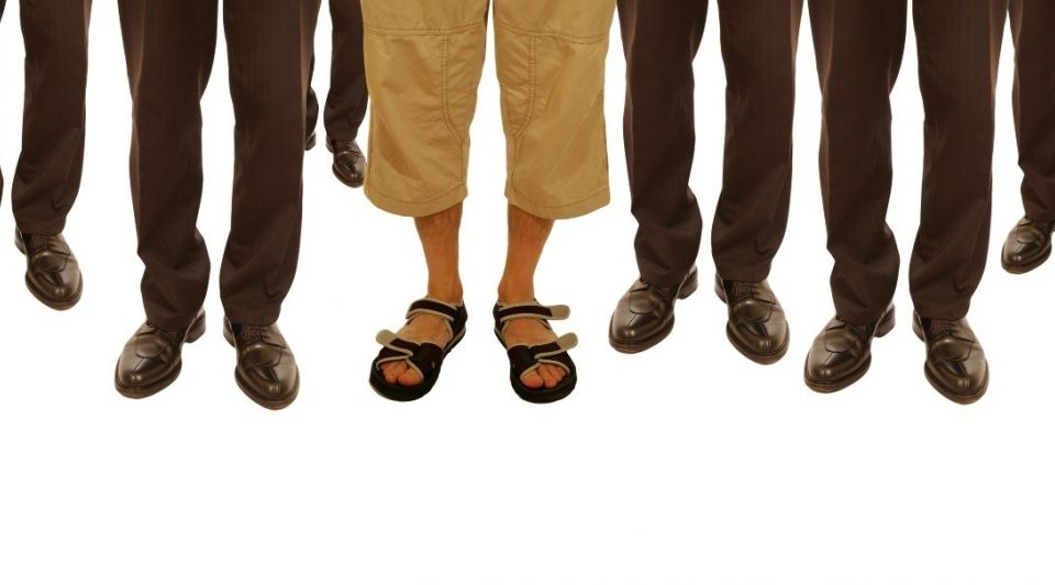 Benen voeten slippers schoenen