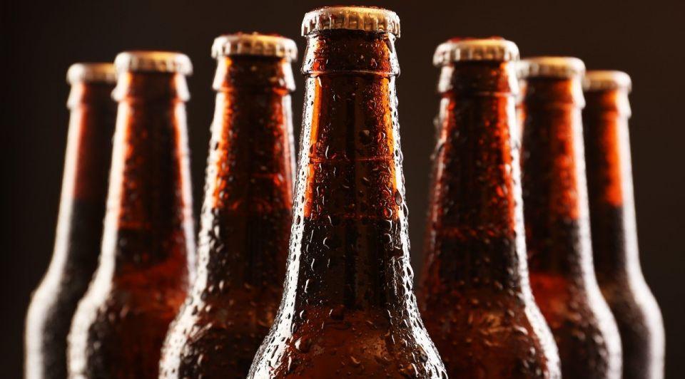 Bierfles bruin bier
