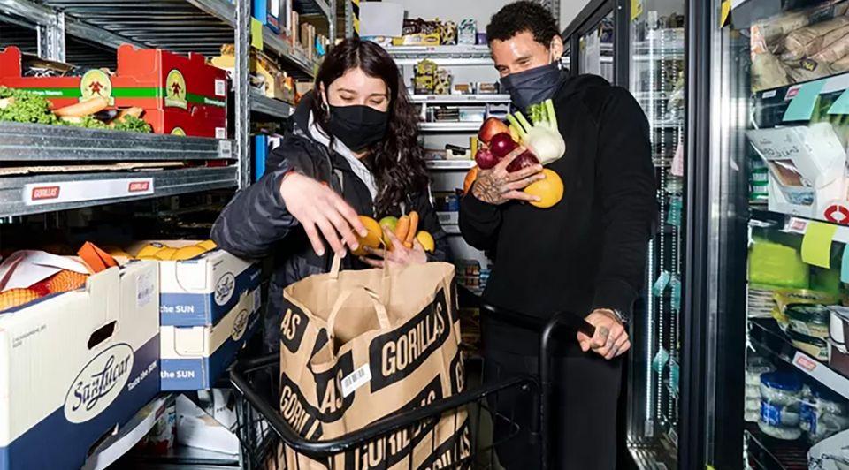 Boodschappen bezorg gorillas supermarkt retail