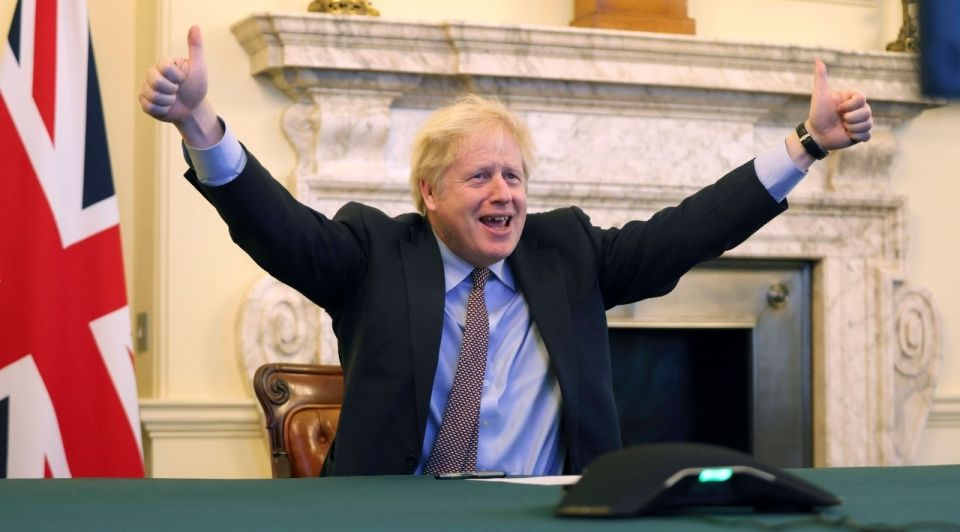Boris johnson londen brexit deal