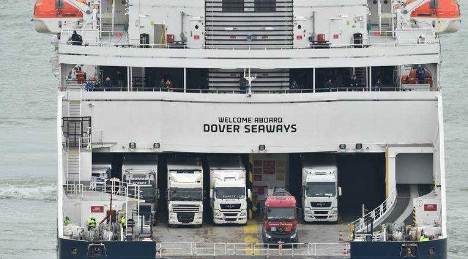 Brexit schip noordzee vrachtwagens trucks