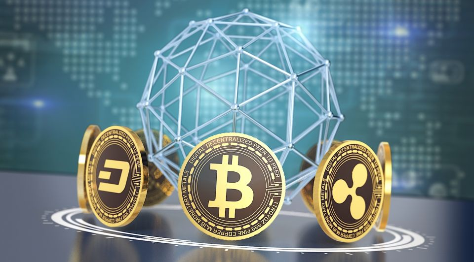 Crypto munt digitale valuta currency bitcoin twaald duizend