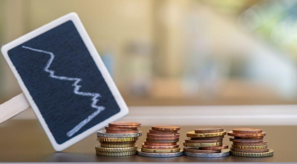 Economie munten grafiek coronacrisis