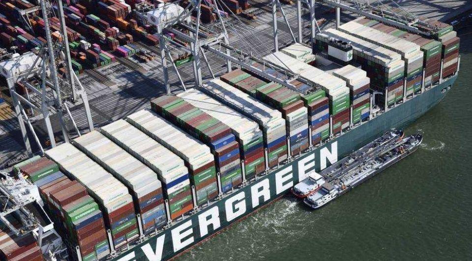 Evergreen haven rotterdam containerschip