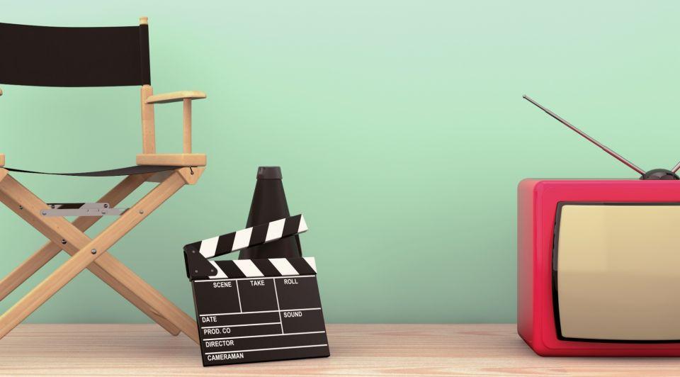 Film commercial clipboard tv