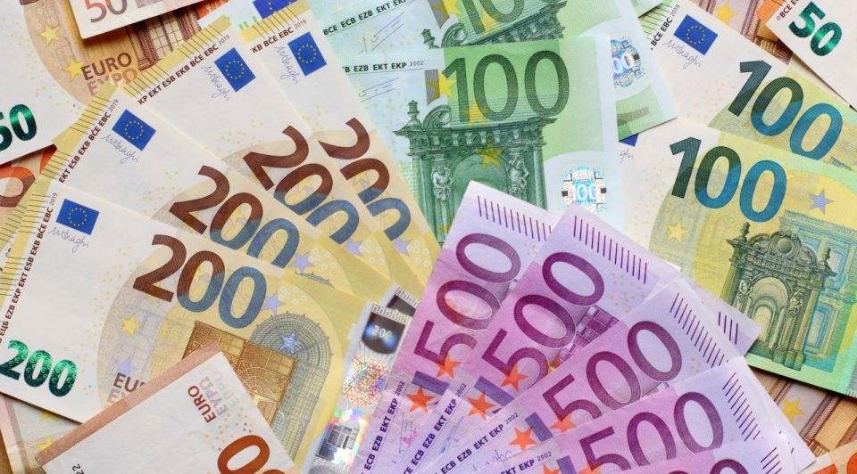 Geld 200 500 euro bankbiljetten