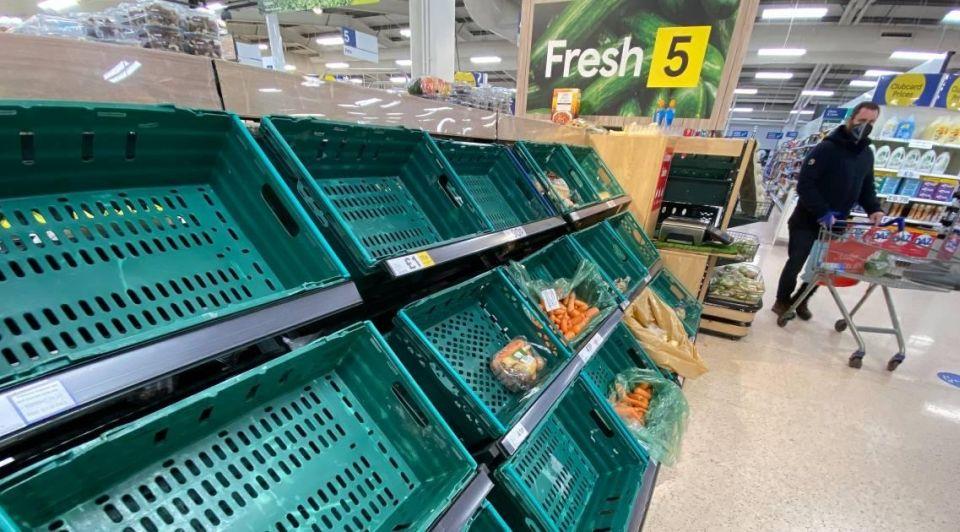 Londen supermarkt brexit leeg