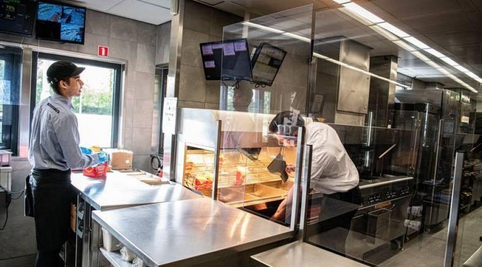 Mcdonalds coronaproof keuken