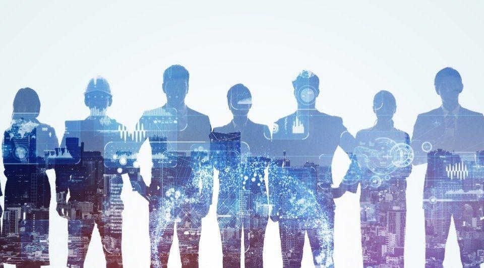 Mensen zakenmensen digitaal