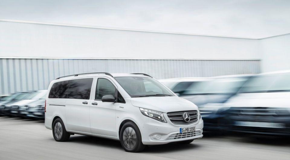 Mercedesbenz evito wit elektrisch bestelwagen
