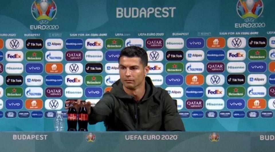 Ronaldo coca cola europees kampioenschap rel