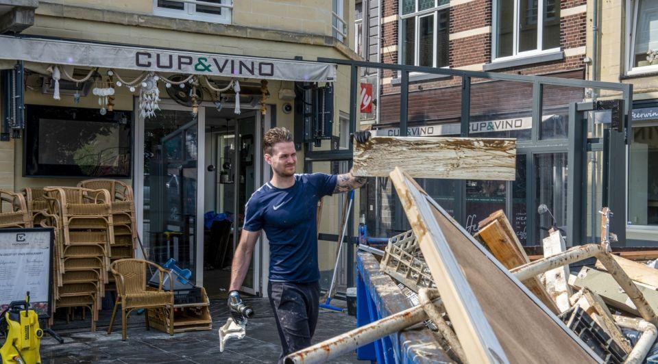 Schade overstroming kroeg valkenburg