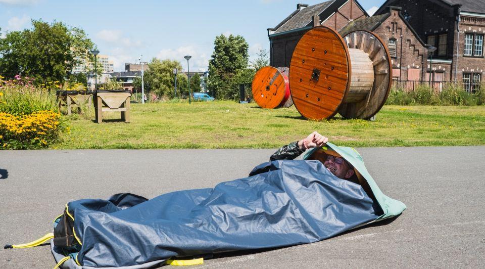 Shelterbag auping slaapzak daklozen