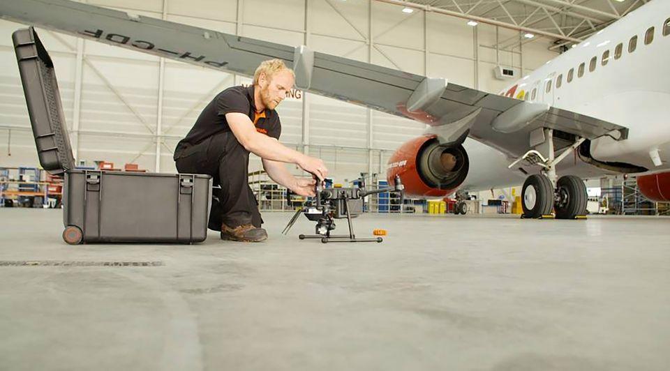 Vliegtuig inspectie drones luchtvaart mainblades