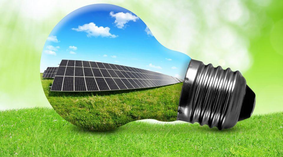 Zonneenergie gloeilamp
