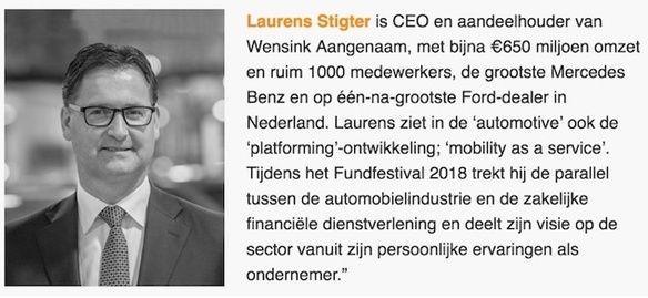 Ruilof van putten NL Investeert financieringsplatform fundfestival zakelijke dienstverlening financiering ondernemer laurens stigter