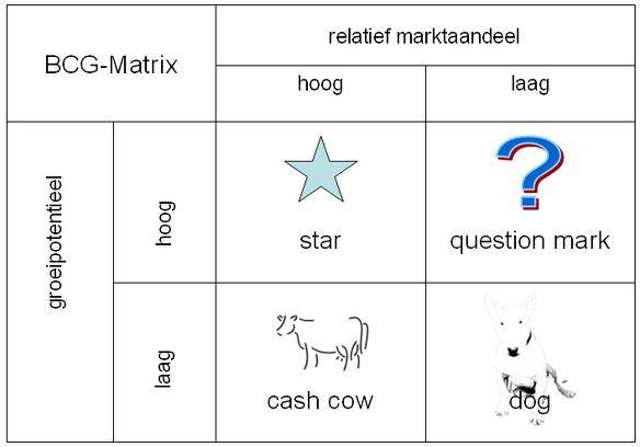 BCG matrix interne analyse