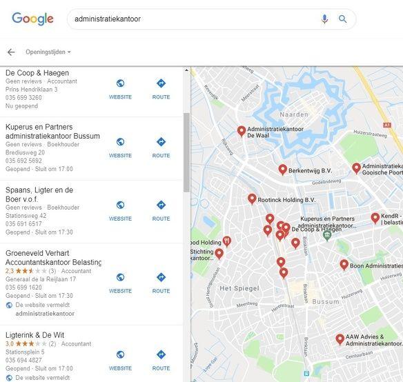 Google Mijn Bedrijf Google Mijn Bedrijf lokaal zoeken zoekresultaat 2