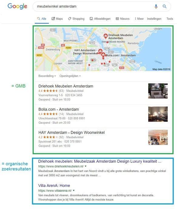 Google Mijn Bedrijf Google Mijn Bedrijf lokaal zoeken zoekresultaat 3