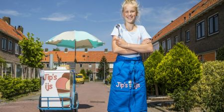 Jipke Hazenberg ijs verkopen