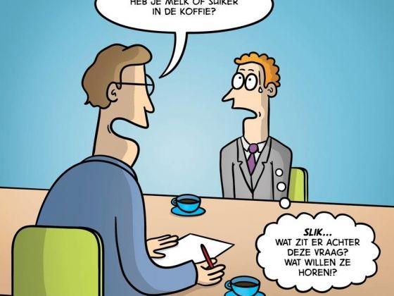 Sollicitaties sollicitatie gesprek sollicitatie gesprekken vragen geen antwoord potentiele werknemers personeel leren kennen tactisch
