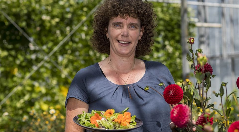 Adrienne Scheffers eetbare bloemen