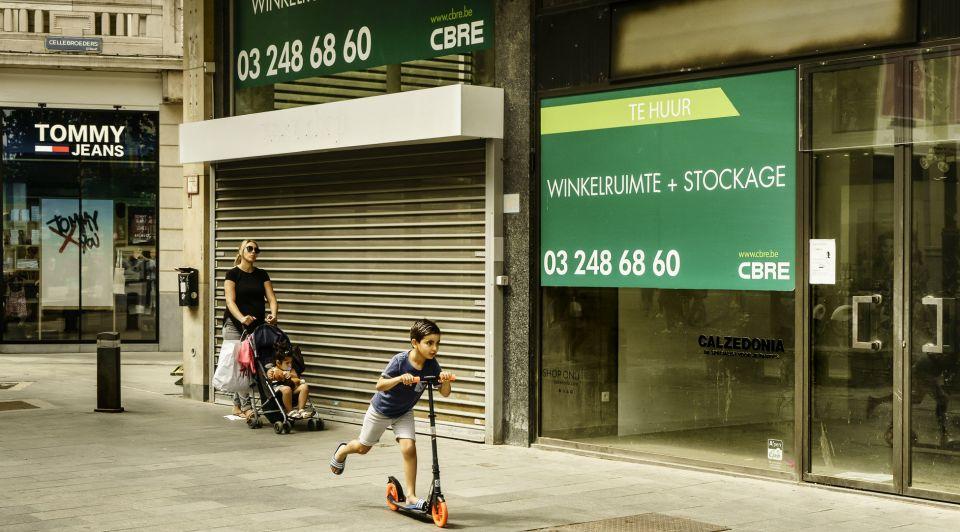 Antwerpen winkels leeg