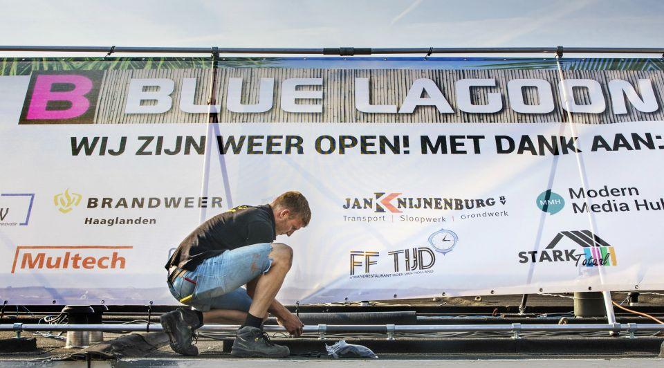 Blue Lagoon Scheveningen brand Peter Ludovici
