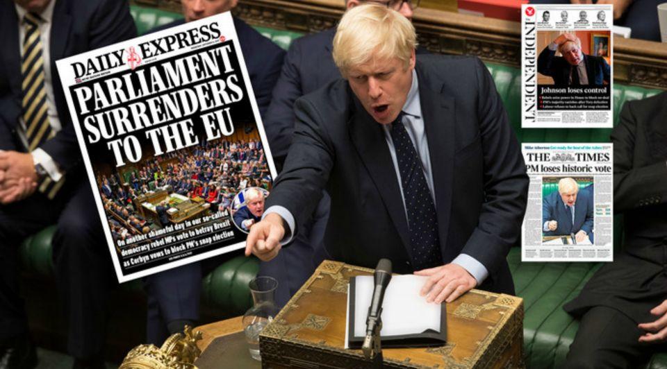 Boris Johnson krantenkoppen